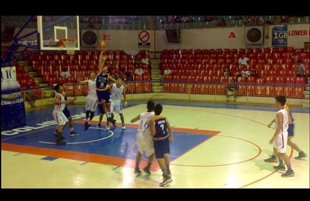 CEBU. The University of Cebu Junior Webmasters defeated the Sacred Heart School-Ateneo de Cebu Magis Eagles, 62-55, on Tuesday, August 16. (Quincy Jones Adriano/USJ-R Intern/Sunnex)